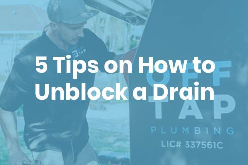 5 tips on how to unblock a drain